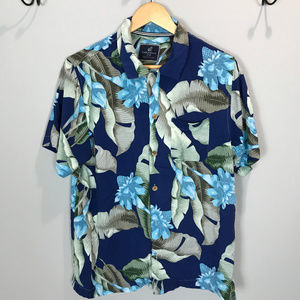 Men's Sz M Caribbean Joe Button Up Shirt